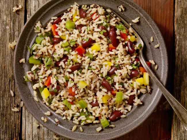 ensalda quinoa con arroz